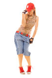 Beautiful breakdancer posing Royalty Free Stock Photo