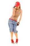 Beautiful breakdancer posing Royalty Free Stock Photo