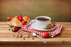 Beautiful breakfast arrangement Stock Images