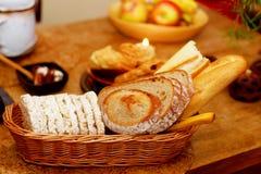 Beautiful breakfast arrangement with morning cereals, in brown tones. Stock Image