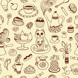Beautiful breakfast seamless pattern Stock Photo