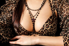 Beautiful  breast of young woman Stock Photo