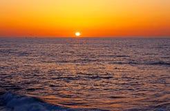 Sunset, Oceanview, La Jolla Cove, California stock photo