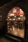 Beautiful brick archway leading into dining room, Lillian's Restaurant, Saratoga Springs, New York,2015 Stock Photos
