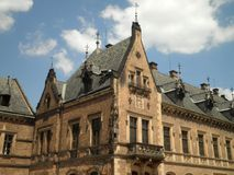 Beautiful Brick Building. A brick building in the Prague Castle royalty free stock photo