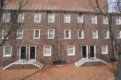 Beautiful Brick Buildings in the historic district of Philadelphia - PHILADELPHIA - PENNSYLVANIA - APRIL 6, 2017. Beautiful Brick Buildings in the historic Royalty Free Stock Photography
