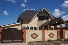 Beautiful brick cottage in the city of Perm Stock Photography