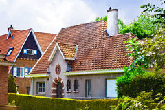 Beautiful brick house. Bruges. Belgium. Stock Photography