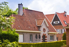 Beautiful brick house. Bruges. Belgium. Royalty Free Stock Photo