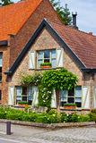 Beautiful brick house. Bruges. Belgium. Stock Photo