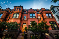 Beautiful brick rowhouses in Washington, DC. Stock Photography