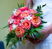 Beautiful bridal bouquet Stock Photos