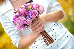 Beautiful bridal bouquet Royalty Free Stock Photos