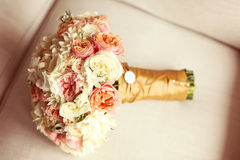 Beautiful bridal bouquet Stock Images
