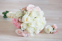 Beautiful Bridal Bouquet on floor. Royalty Free Stock Image