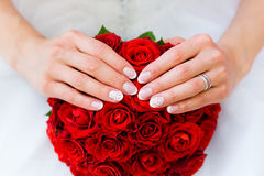 Beautiful bridal bouquet of flowers Royalty Free Stock Photo