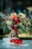 Beautiful bridal bouquet of fresh flowers Royalty Free Stock Images