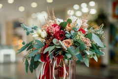 Beautiful bridal bouquet of fresh flowers Stock Photos