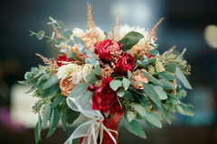Beautiful bridal bouquet of fresh flowers Royalty Free Stock Photo