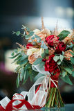 Beautiful bridal bouquet of fresh flowers Royalty Free Stock Image
