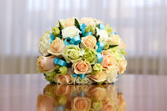 Beautiful bridal bouquet of roses at  wedding party Stock Images