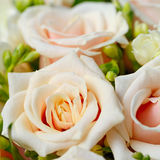 Beautiful bridal bouquet of roses at  wedding party Royalty Free Stock Photos