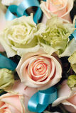 Beautiful bridal bouquet of roses at a wedding party Stock Image