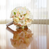 Beautiful bridal bouquet of roses at  wedding party Royalty Free Stock Images