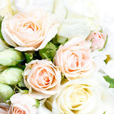Beautiful bridal bouquet of roses at  wedding party Stock Photo