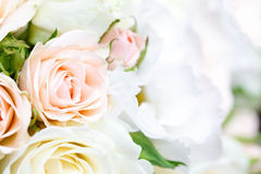Beautiful bridal bouquet of roses at  wedding party Stock Image