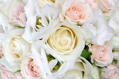 Beautiful bridal bouquet of roses at  wedding party Royalty Free Stock Image