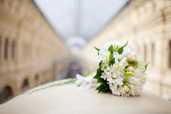 Beautiful bridal bouquet. Russia, Moscow, GUM Royalty Free Stock Photography
