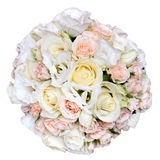 Beautiful bridal bouquet at  wedding party,bunch of flowers. is. Beautiful bridal bouquet at a wedding party,bunch of flowers. isolated Royalty Free Stock Image