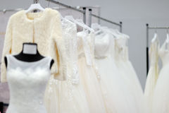 Beautiful bridal or bridesmaid dresses on a mannequin Stock Images