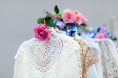 Beautiful bridal or bridesmaid dresses on a mannequin Stock Image