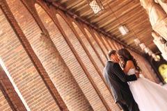 Beautiful bridal couple. In Szeged, Hungary Stock Photos