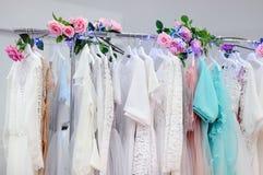 Beautiful bridal dresses or bridesmaid dresses Royalty Free Stock Image