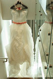 Beautiful bridal gown Stock Image