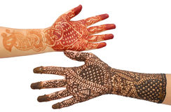 Beautiful bridal hands Royalty Free Stock Photos