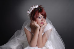 Beautiful Bridal Portraits. Isolated on black background Stock Image