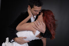 Beautiful bridal protraits. Beautiful bride and her groom Stock Image