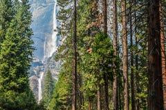 Beautiful Bridal Veil Yosemite Park California Stock Photography