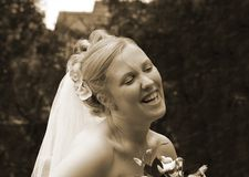 Beautiful Bride 01. Beautiful Bride full of joy having just got married stock image