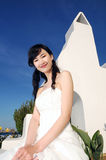 Beautiful Bride. A beautiful bride in front of church Royalty Free Stock Image