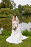 Beautiful bride. In the park Royalty Free Stock Photography