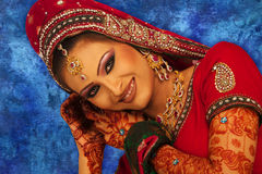 Beautiful Bride. Close up beautiful Asian Bride royalty free stock photos