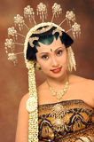 Beautiful Bride. Beautiful Indonesian bride in her traditional wedding dress Royalty Free Stock Images