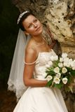 Beautiful bride. Beautiful the bride with a bouquet from tulips Stock Photography