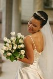 Beautiful bride. Beautiful the bride with a bouquet from tulips Stock Photo