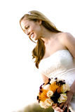 Beautiful Bride. A profile of a bride Royalty Free Stock Photo